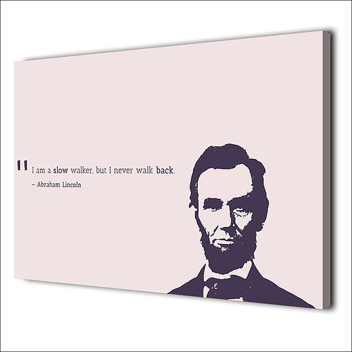 Abraham Lincoln motivation quote -1 piece canvas