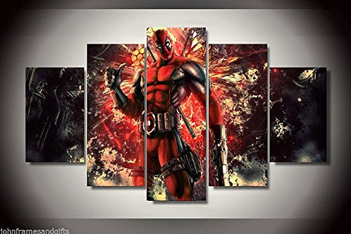 Deadpool - 5 Piece Canvas Set