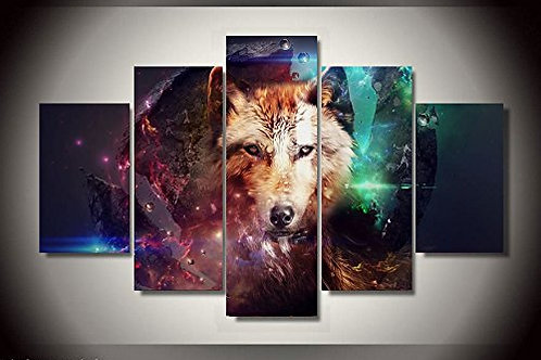Wolf - 5 Piece Canvas Set