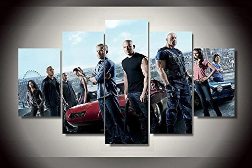 The Fast and The Furious - 5 Piece Canvas Set