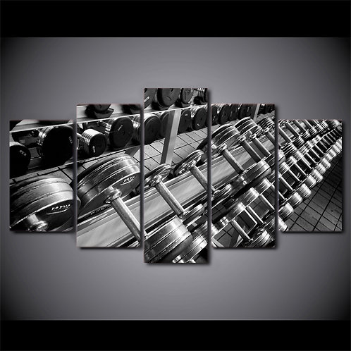 Weightlifting - 5 Piece Canvas Set