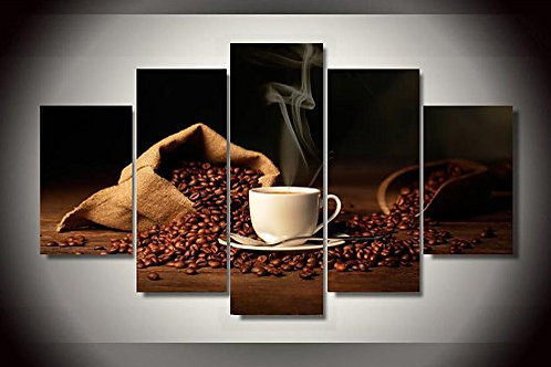 Coffee - 5 Piece Canvas Set