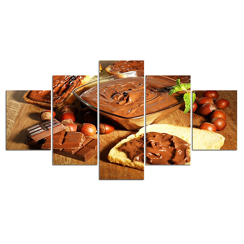 Print Home D?cor chocolate spread print canvas 5 pieces