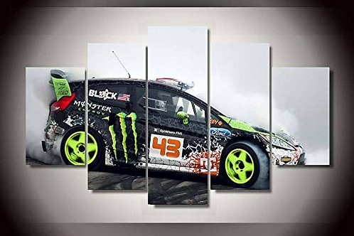 Ken Block - Ford Fiesta- 5 Piece Canvas Set