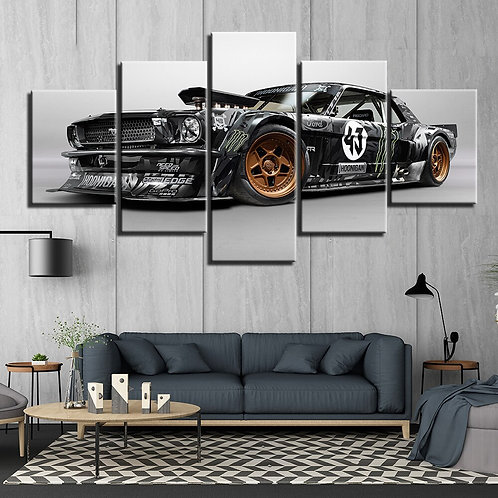Art HD Print Home Decor Ford Mustang, 1965 Hoonigan, Ken Block CarPaintings for