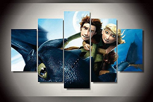 How to Train Your Dragon - 5 Piece Canvas Set