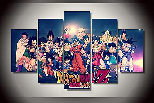 Dragon Ball Z - 5 Piece Canvas Set