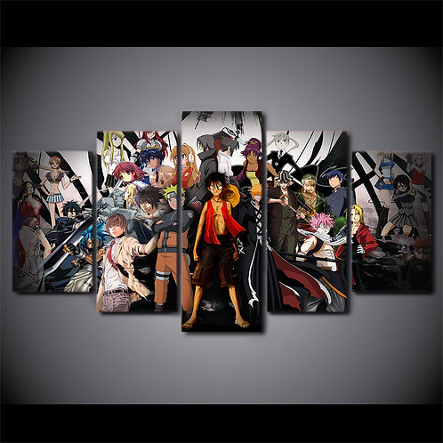 Anime Characters - 5 Piece Canvas Set