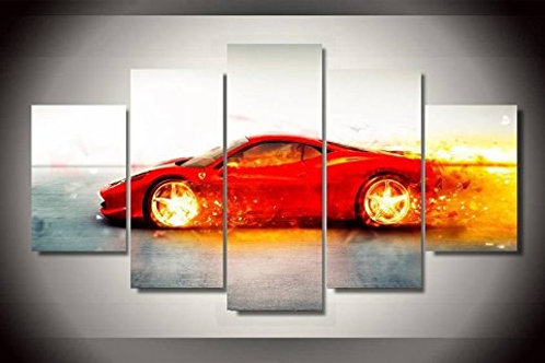 Ferrari - 5 Piece Canvas Set
