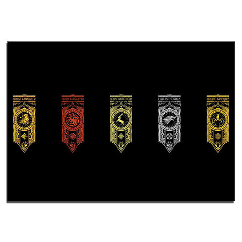 Game of thrones houses  -1 piece canvas