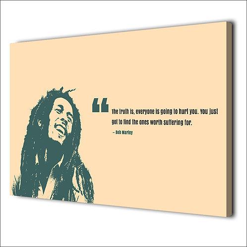 Bob Marley motivation quote -1 piece canvas