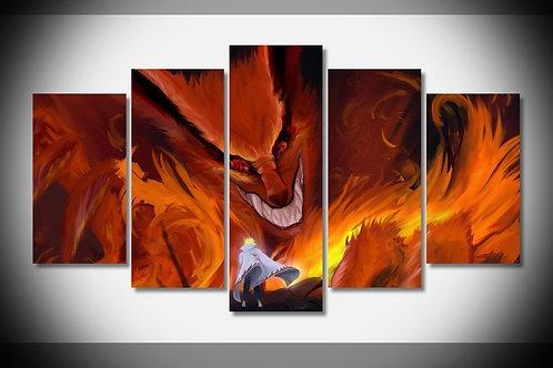 Kyuubi - Naruto - 5 Piece Canvas Set