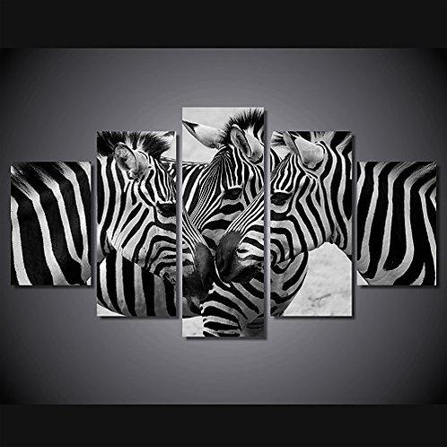 Zebras - 5 Piece Canvas Set