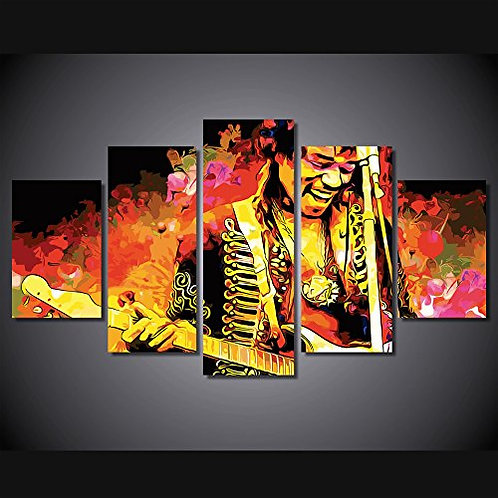 Jimi Hendrix - 5 Piece Canvas Set