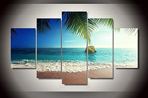 Sea View Beach - 5 Piece Canvas Set