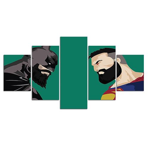 Batman vs Superman print canvas 5 pieces