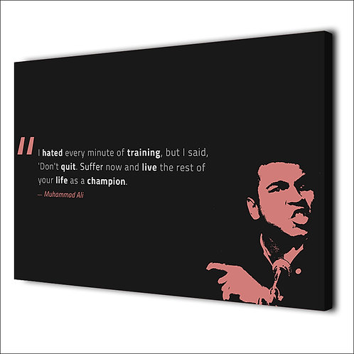 Muhammad Ali motivation quote -1 piece canvas
