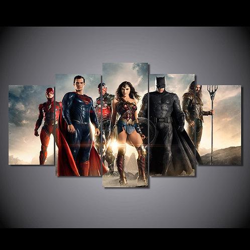 Super Heroes - 5 Piece Canvas Set