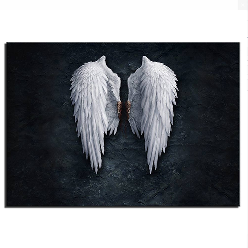 Angel white wings -1 piece canvas