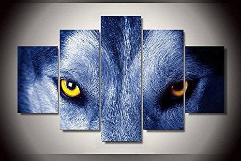 Wolf Eyes - 5 Piece Canvas Set