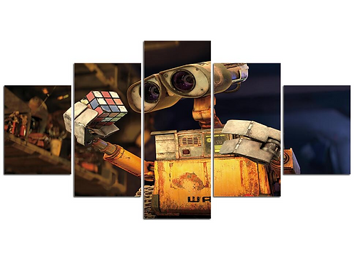 WALL-E movie cartoon print on a canvas 5 pieces