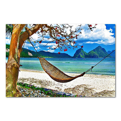 Scenery Hammock Tropical Beach - 1 piece canvas