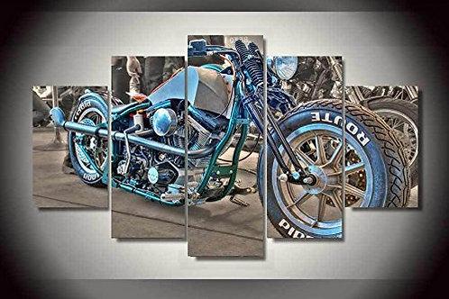 Chopper Motorbike - 5 Piece Canvas Set