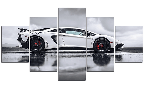 Lamborghini Aventador framed print canvas 5 pieces