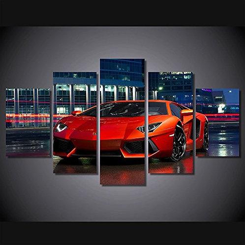 Red Lamborghini - 5 Piece Canvas Set