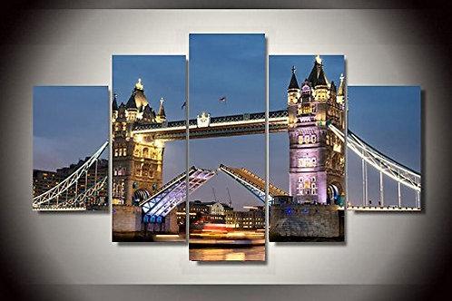 Tower Bridge London - 5 Piece Canvas Set