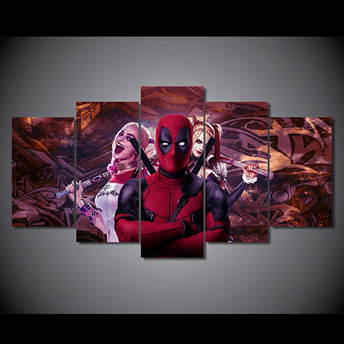 Deadpool Hero - 5 Piece Canvas Set