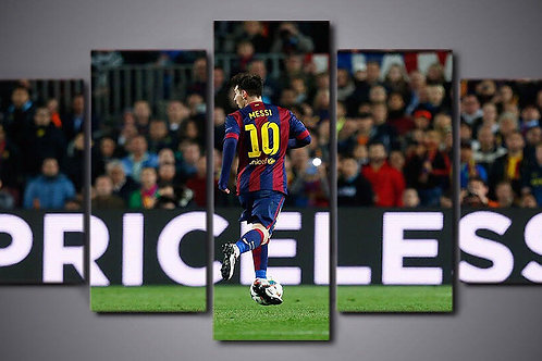 Messi - Barcelona - 5 Piece Canvas Set