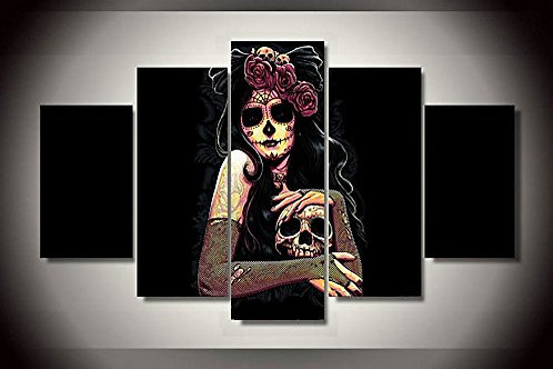 Day of the Dead - 5 Piece Canvas Set
