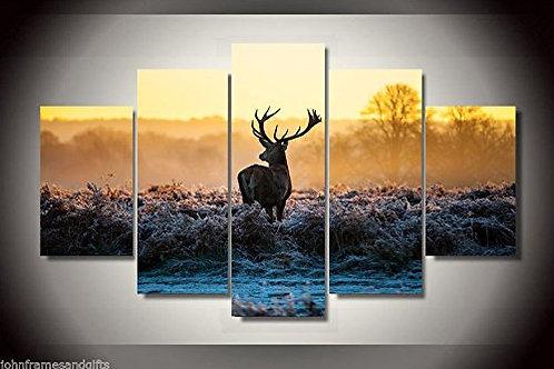 Deer hunt  - 5 Piece Canvas Set