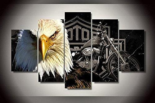 Harley Davinson Eagle - 5 Piece Canvas Set