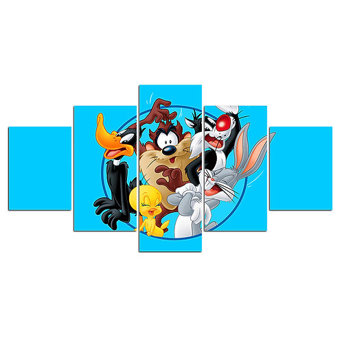 Looney Tunes cartoon - 5 Piece Canvas
