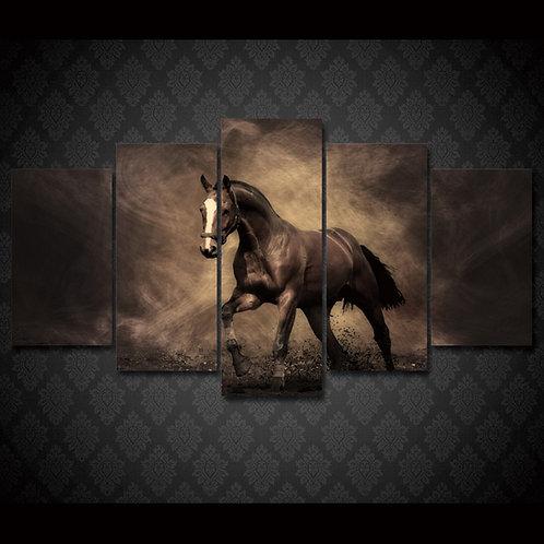 Black Horse - 5 Piece Canvas Set