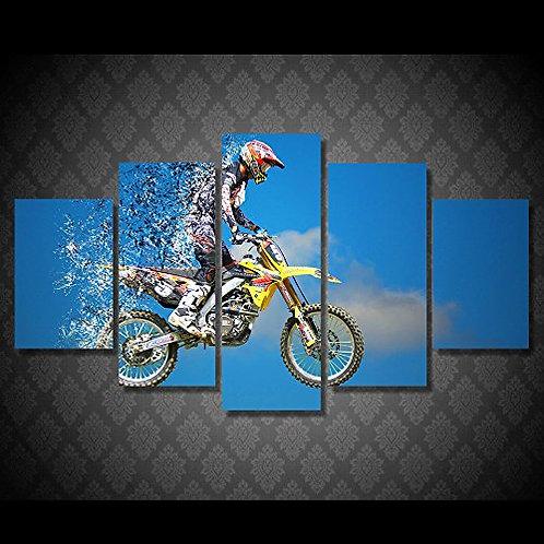 Motorbike - 5 Piece Canvas Set