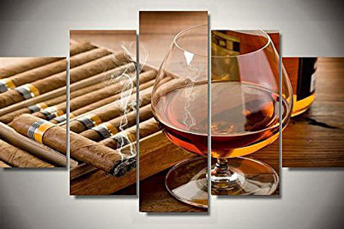 Cohiba Cigars- 5 Piece Canvas Set