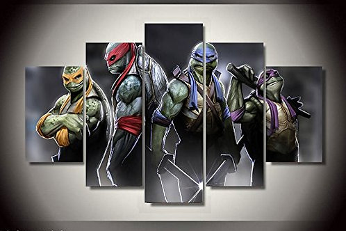 Ninja Turtles - 5 Piece Canvas Set