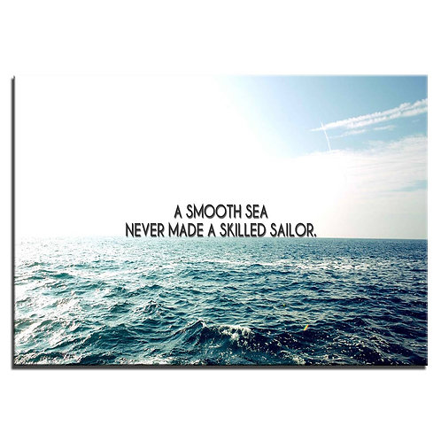 Quote Smooth sea - 1 piece canvas