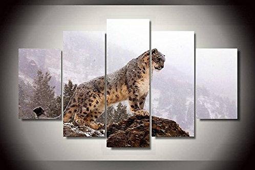 Snow Leopard - 5 Piece Canvas Set