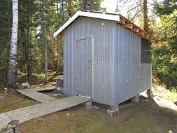 Highrock Lake fly-in outpost shed.JPG
