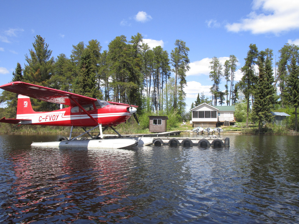 Canadian fly in fishing outpost cabin