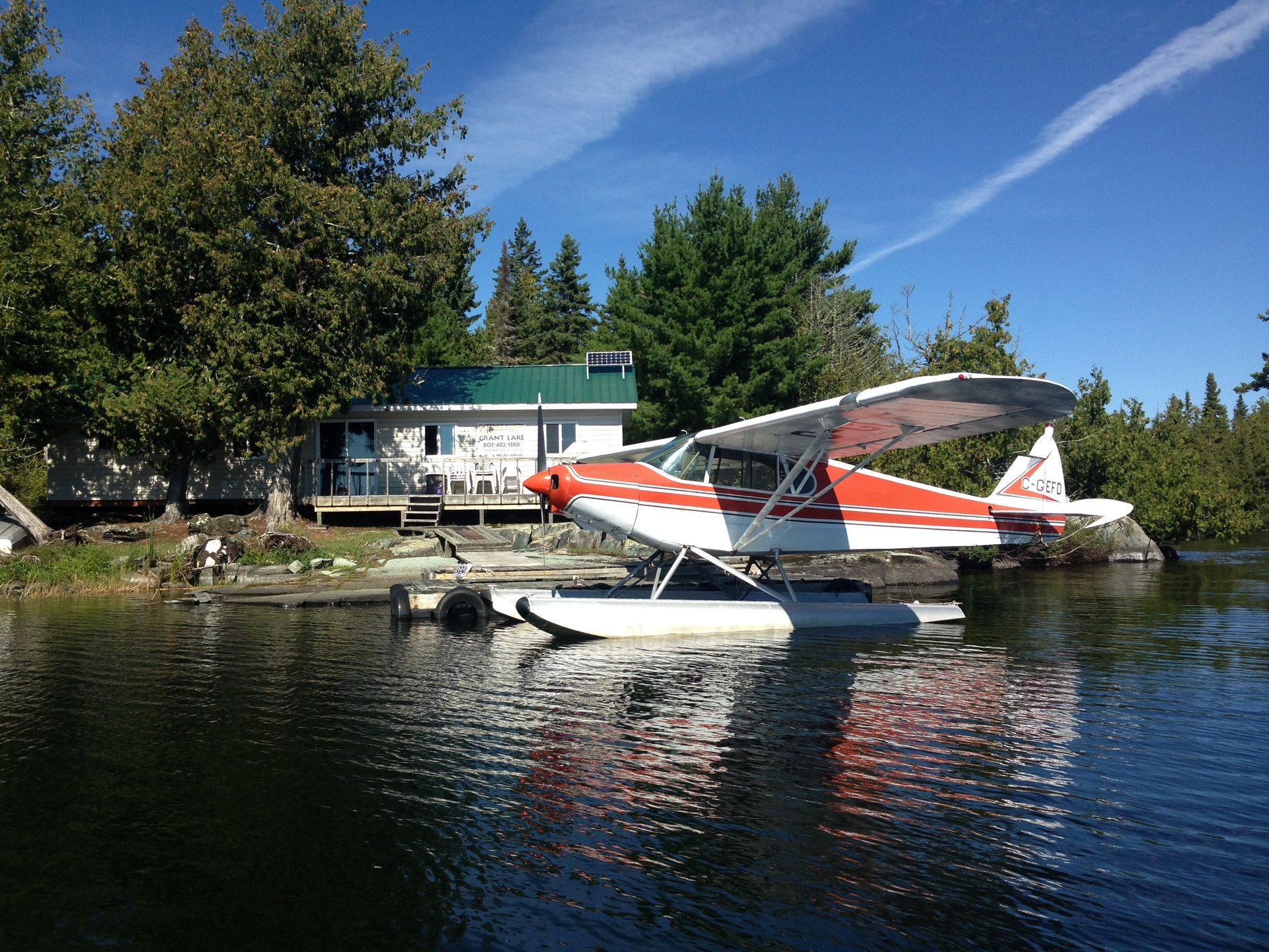 PA-12 floatplane