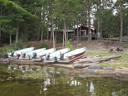Trout Lake fly-in outpost boats.JPG