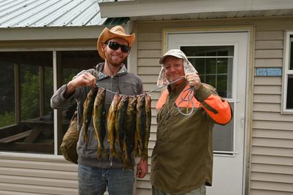 walleye fishing on remote outpost lake.J