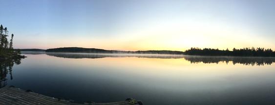 Remote Canadian lake sunrise.JPG