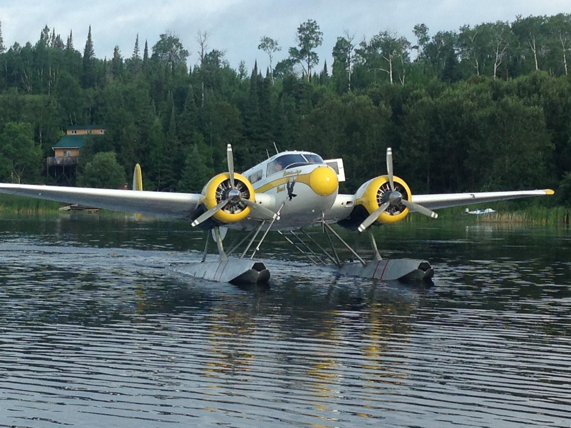 Beech 18 on floats