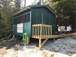 Dogfly Lake fish cleaning storage shed.j